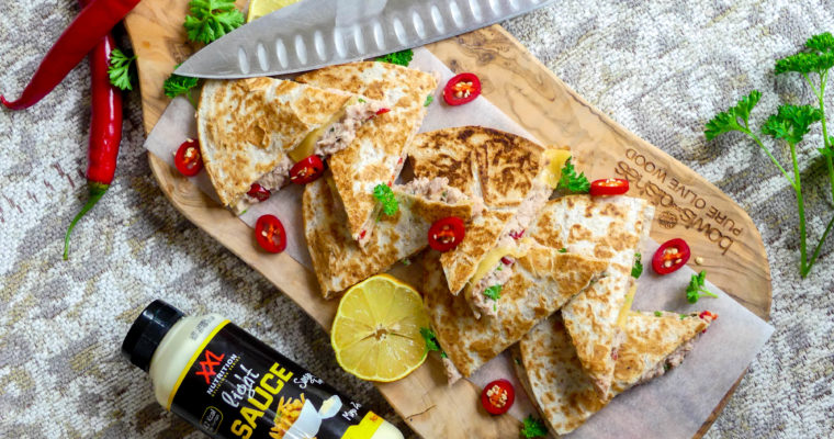 Spicy tonijn quesadilla