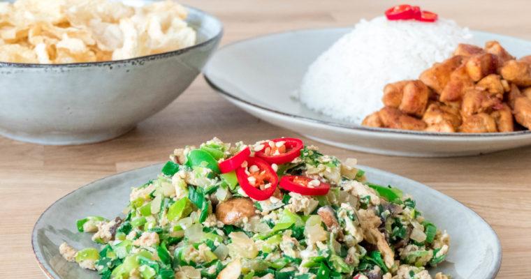 Indisch groente gerecht: orak arik