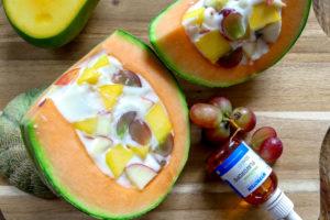 Meloen met pannacotta