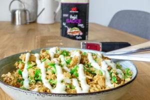 vegetarische shoarma met couscous