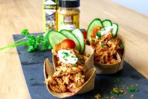 BBQ kip taco