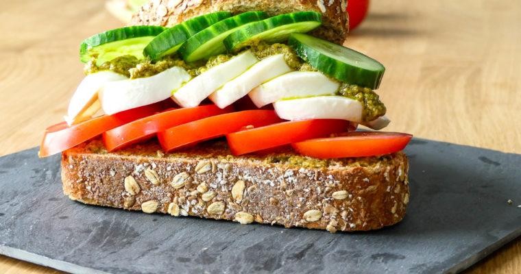 Broodje caprese voor de lunch