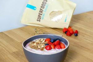 Griekse yoghurt met gepofte quinoa