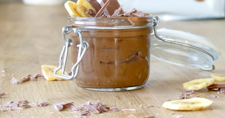 Chocolade-bananen mousse