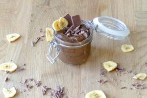 chocolade bananen mousse