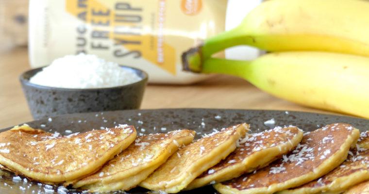 Pannenkoeken van mango en banaan