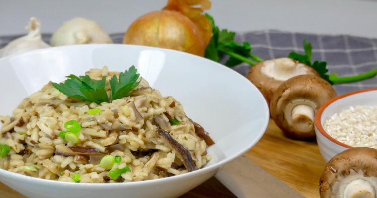 Risotto met paddenstoelen recept